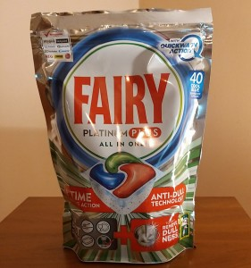 Fairy Platinum Plus Regular. Tabletki do zmywarki. 40 szt.